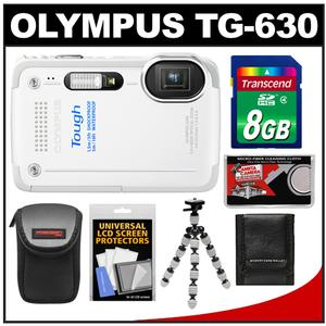 Olympus Tough TG-630 iHS Shock + Waterproof Digital Camera (White) with 8GB Card + Case + Flex Tripod + Accessory Kit at Sears.com