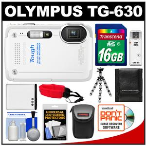 Olympus Tough TG-630 iHS Shock + Waterproof Digital Camera (White) with 16GB Card + Case + Battery + Flex Tripod + Accessory Kit at Sears.com