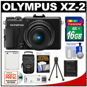 Olympus Stylus XZ-2 iHS Digital Camera (Black) with 16GB Card + Case + Battery + Tripod + Accessory Kit at Sears.com