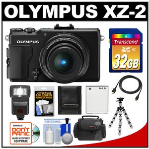 Olympus Stylus XZ-2 iHS Digital Camera (Black) with 32GB Card + Case + Battery + Tripod + Flash + HDMI Cable + Accessory Kit at Sears.com
