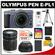 Olympus PEN E-PL1 Micro 4/3 Digital Camera & 14-42mm Lens (Slate Blue/Black)-Factory Demo with M.Zuiko 40-150mm Zoom Lens + 32GB Card + Battery + Tripod + Case + Accessory Kit