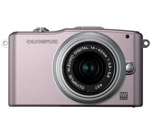Olympus PEN Mini E-PM1 Micro Digital Camera and 14-42mm II Lens (Pink/Silver) - Refurbished includes Full 1 Year Warranty