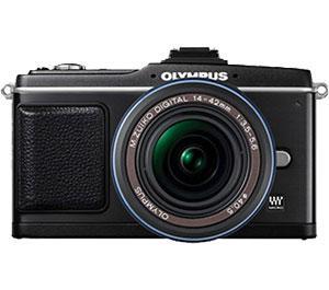 Olympus PEN E-P2 Micro 4/3 Digital Camera and 14-42mm Lens (Black)