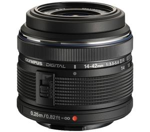Olympus M.Zuiko 14-42mm II R f/3.5-5.6 MSC Micro Digital Zoom Lens (Black) - Refurbished includes Full 1 Year Warranty