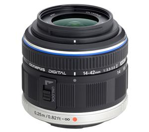 Olympus M.Zuiko 14-42mm II f/3.5-5.6 MSC Micro Digital Zoom Lens (Black) - Refurbished includes Full 1 Year Warranty