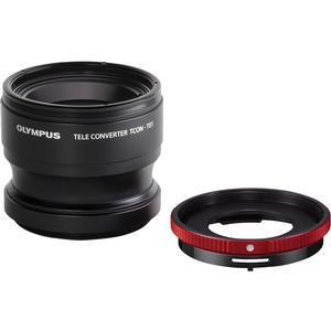 Olympus TCON-T01 Telephoto Converter Lens and CLA-T01 Adapter Ring Pack for Tough TG-1 TG-2 TG-3 iHS TG-4 and TG-5 Waterproof Digital Camera
