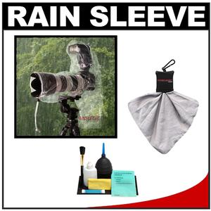 Op-Tech USA Rainsleeve for Digital SLR Camera Lens and Flash - 2 Pack - with Accessory Kit