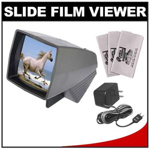 Pana-Vue 1 Lighted 2x2 Slide Film Viewer with AC Adapter + - 3 - Microfiber Cleaning Cloths