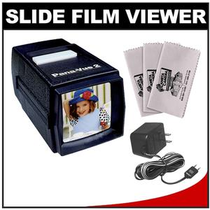 Pana-Vue 2 Lighted 2x2 Slide Film Viewer with AC Adapter + - 3 - Microfiber Cleaning Cloths