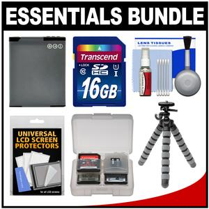 Essentials Bundle for Panasonic Lumix DMC-ZS35 ZS40 ZS45 ZS50 LZ40 Digital Cameras with 16GB Card + DMW-BCM13 Battery + Flex Tripod + Kit