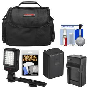 Essentials Bundle for Panasonic V180 V380 V770 VX870 VX981 W570 W580 WX970 WXF991 with Battery and Charger + Case + LED Video Light + Kit