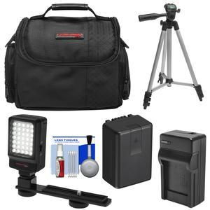 Essentials Bundle for Panasonic V180 V380 V770 VX870 VX981 W570 W580 WX970 WXF991 with Battery and Charger and Case and LED Video Light and Tripod and Kit