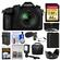 Panasonic Lumix DMC-FZ1000 4K QFHD Wi-Fi Digital Camera with 64GB Card + Case + LED Light + Microphone + Battery/Charger + 3 Filter Kit