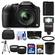 Panasonic Lumix DMC-FZ200 Digital Camera (Black) with 32GB Card + Battery + Case + Flash + Lens Set + Tripod + 3 Filters Kit