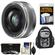 Panasonic Lumix G Vario 20mm f/1.7 II ASPH Lens for G Series Cameras (Silver) with 3 UV/ND8/CPL Filters + Backpack Case + Accessory Kit