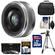 Panasonic Lumix G Vario 20mm f/1.7 II ASPH Lens for G Series Cameras (Silver) with 32GB Card + 3 UV/ND8/CPL Filters + Case + Tripod + Accessory Kit