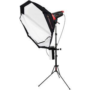 Photogenic Matrix MCD400DK 400WS Flash Monolight with Octodome White Softbox and LiteStand also includes MRT-16 Wireless Transmitter and Li-ion Battery Pure Sine Wave Inverter