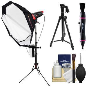 Photogenic Matrix MCD400DK 400WS Flash Monolight with Octodome White Softbox and LiteStand with MRT-16 Wireless Transmitter and Li-ion Battery + Tripod + Kit