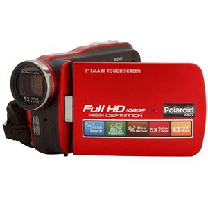 Polaroid iD879 1080p HD Touch Screen Video Camera Camcorder with LED Light (Red)
