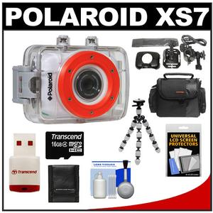 Polaroid XS7 Waterproof Hi-Def HD Sports Video Camera Camcorder + Helmet + Bike Mounts + 16GB Card + Case + Flex Tripod + Accessory Kit at Sears.com