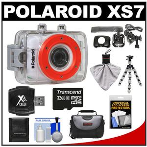 Polaroid XS7 Waterproof Hi-Def HD Sports Video Camera Camcorder + Helmet + Bike Mounts + 32GB Card + Case + Flex Tripod + Accessory Kit at Sears.com