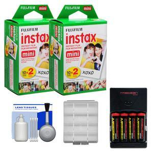 Essentials Bundle Compatible with Polaroid PIC300 Series Instant Film Analog Cameras with 40 Instant Film Prints and AA Batteries and Charger and Kit
