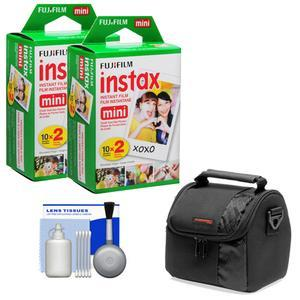 Essentials Bundle Compatible with Polaroid PIC300 Series Instant Film Analog Cameras with 40 Instant Film Prints and Case and Kit