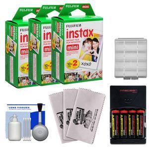 Essentials Bundle Compatible with Polaroid PIC300 Series Instant Film Analog Cameras with 60 Instant Film Prints + AA Batteries and Charger + Kit