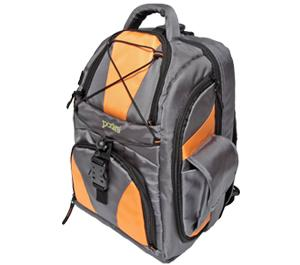 Portare Multi-Use Laptop/iPad/Digital SLR Camera Backpack Case (Gray/Orange)