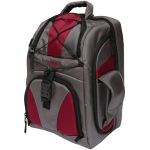 Portare Multi-Use Laptop/iPad/Digital SLR Camera Backpack Case (Gray/Maroon)