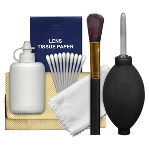 Precision Design 6-Piece Camera and Lens Cleaning Kit with Blower Brush Fluid Cloth Tissues and Tips