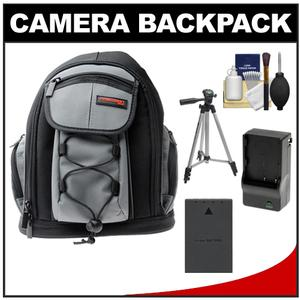 Precision Design PD-MBP ILC Digital Camera Mini Sling Backpack with BLS-1/BLS-5 Battery & Charger + Tripod + Accessory Kit