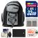 Precision Design PD-MBP ILC Digital Camera Mini Sling Backpack with 32GB Card + EN-EL20 Battery + Accessory Kit