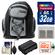 Precision Design PD-MBP ILC Digital Camera Mini Sling Backpack with 32GB Card + EN-EL15 Battery + Accessory Kit