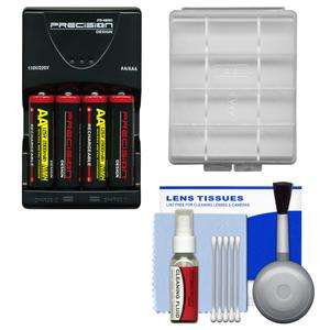 AA Batteries & Charger Essential Bundle for Nikon Coolpix A10  B500  L30  L31  L32  L820  L830  L840 Digital Camera