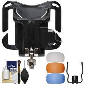 Precision Design PD-BG Camera Quick Release Belt Grip with 3 Pop-up Flash Diffusers + Cleaning Kit