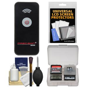 Precision Design Universal Wireless Shutter Release Remote Control with Cleaning Kit for E-30 E-5 Evolt E-620 OM-D E-M5 PEN E-P2 E-P3 E-P5 E-PL2