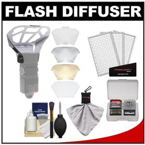 Precision Design Universal Flash Diffuser Bouncer with Cleaning Accessory Kit