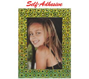 Precision Design Self-Adhesive Photo Frame 4x6 - Green-Yellow Mosaic -