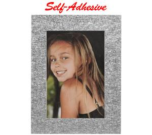 Precision Design Self-Adhesive Photo Frame 4x6 - Silver -