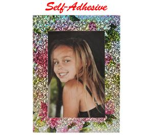 Precision Design Self-Adhesive Photo Frame 4x6 - Rose-Silver -