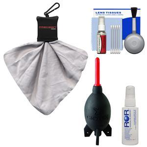 Cleaning Kit Essential Bundle with Blower Brush Fluid and Spudz for ILC-DSLR Cameras