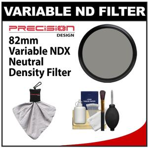 Precision Design 82mm Variable NDX Neutral Density Filter with Cleaning Kit