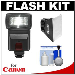 Precision Design DSLR300 High Power Auto Flash with Softbox Diffuser Kit for Canon PowerShot SX40 HS  G12 & G1 X Digital Camera
