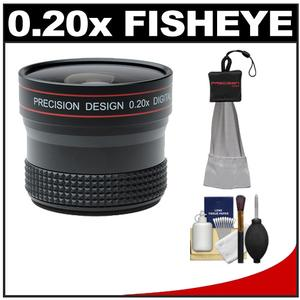 Precision Design 0.20x HD High Definition Fisheye Lens with Cleaning And Accessory Kit