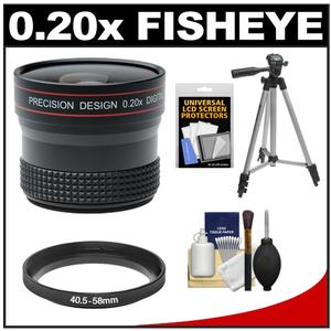 Precision Design 0.20x HD High Definition Fisheye Lens with Tripod + Accessory Kit