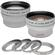 Precision Design .45x Wide Angle & 2.5x Telephoto Camera/Video Lens Set