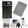 Premium Tech PT-BLN-1 Battery and Charger for Olympus BLN-1 with Tripod + Accessory Kit