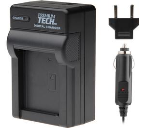 Premium Tech Pro Travel Charger for Canon NB-6L- Panasonic DMW-BCM13- JVC BN-VH105 Battery and Samsung SLB-10A