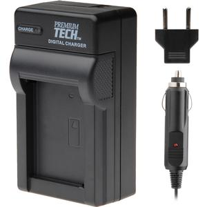 Premium Tech PT-19 Battery Charger for Olympus Li-50B Kodak LB-050 and Pentax D-LI92 Pentax D-LI78 - Sony BK1 FK1